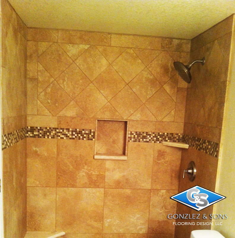 Tile Shower Design Mosaic